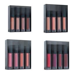Губы коричневые онлайн-4шт. Увлажняющий матовый жидкий блеск для губ. Набор губных помад для красоты. Набор Nude / Red / Pink / Brown Edition Nude / Pink Love Collection