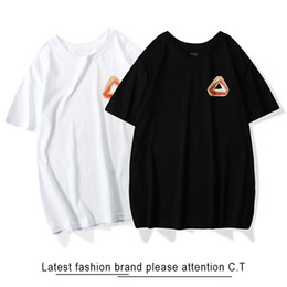 Stampa di palazzo online-19ss New Mens Designer T Shirt Summer Triangle Stampa Nero PALACES Brand T-Shirt Uomo Top Tshirt Cotone manica corta Moda donna Top Tee
