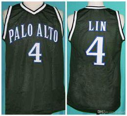 Lin trikot online-Jeremy Lin Retro # 4 Palo Alto Vikings Retro Basketball Jersey Mens genähtes Benutzerdefinierte Nummer Name Trikots