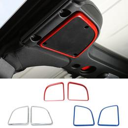 Accesorios para altavoces online-Cubierta del marco del altavoz de audio en el techo / cubierta del altavoz del techo para Jeep Wrangler 2015-2017 accesorios para el interior del nuevo automóvil