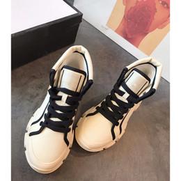 zapato de impresión de tela Rebajas Diseñador de las mujeres de los zapatos corrientes del zapato de lona con cordones de los zapatos ocasionales del dedo del pie Imprimir algodón Tela Ronda colorido libre del envío