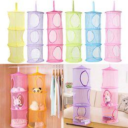 prateleiras para crianças Desconto 3 prateleira pendurado net armazenamento kids toy organizador saco quarto parede porta do armário de parede porta do armário organizadores cesta para