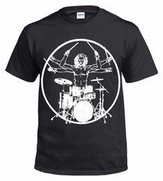Argentina Drummer de Vitruvian Camiseta divertida con tambores Batería Batería Top Rock Camiseta retro con estampado de algodón 100% Suministro