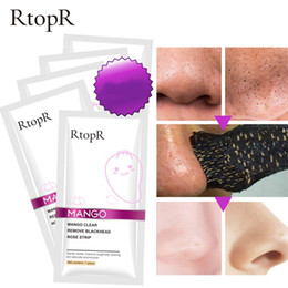skin peeling oil Coupons - RtopR Blackhead Remover Nose Mask Pore Strip Black Mask Peeling Acne Treatment Face Mask Deep Cleansing Oil-control Skin Care