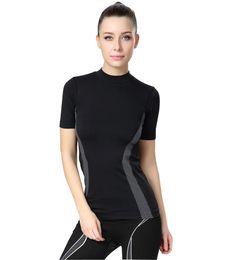 Training Abnehmen Sport T Shirt Frauen Compression Sportswear Yoga Tops Laufen T Shirt Gym Tights Shirts Fitness Top Jersey Lady