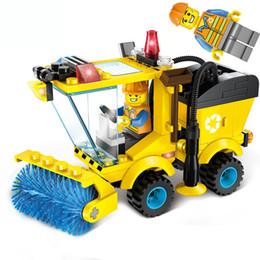 Canada Série City Sweeper Car Truck Model Car Assemblez des blocs de construction voiture Jouets éducatifs Apprentissage Éducation Briques Enfant Cadeaux 4 styles Offre