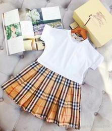 2019 été nouvelle fille coton robe enfants vêtements couture coton plaid robe mode princesse robe / haute qualité sport t-shirt ? partir de fabricateur