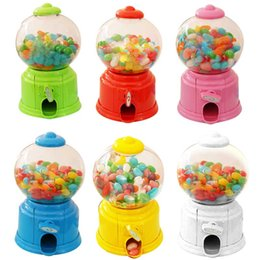 saving box kids Promo Codes - Lovely Sweets Mini Candy Machine Bubble Gumball Dispenser Coin Bank Kids Toy Money Saving Box for Baby Gift Toys Sa