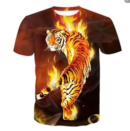 2020 t digitale maglietta animale Tiger T Shirt Abbigliamento Animal T-shirt 3d Digital Print T Shirt Men Abbigliamento oversize Top Tee Hip Hop Fashion Summer sconti t digitale maglietta animale
