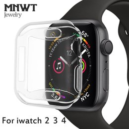 MNWT Para el reloj de Apple Estuche suave y delgado para el reloj de Apple Serie 44mm 40mm 42mm / 38mm Para el iwatch Series 4 3 2 TPU All-Around Protector Case desde fabricantes