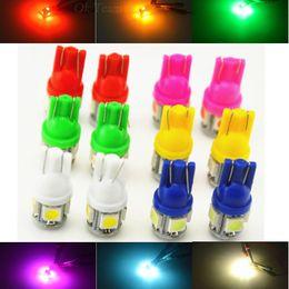 2019 audi a4 blue T10 LED W5W 5-SMD 5050 Супер яркие светодиодные лампы 194 168 2825 Клин огни Источник Замена лампы Интерьер мотоциклов Лампы горячей