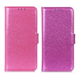 Maleta oneplus on-line-Rosa Glitter Wallet Case para OnePlus 7 PRO 5G Capa Flip Capa para OnePlus 7 PU Couro Casos de Telefone de Proteção com Cartão de Bolso