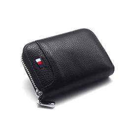 Echtes Leder Organizer Business RFID Kreditkarteninhaber Rindsleder Minimalistische Frauen Kartenetui Männer Kleine Brieftasche von Fabrikanten