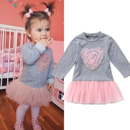 baby girl tutu skirt long sleeve Coupons - Sweet Kids Baby Girl Long Sleeve Lace Tutu Tulle Dress Skirt Outfits Clothes