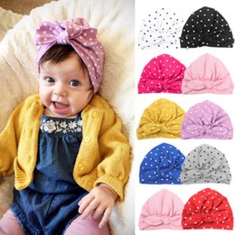284c0a26 New Cute Newborn Dot Cotton Hat Toddler Kids Baby Boy Girl Turban Beanie  Hat Infant Winter Outdoor Bowknot Cap