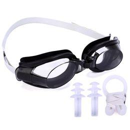 Мужские клипсы для ушей онлайн-3 In 1 Clear Nose Clip Waterproof Water Park Adjustable Swimming Supply Set Women Men Swim Goggle Ear Plug Adult Protective