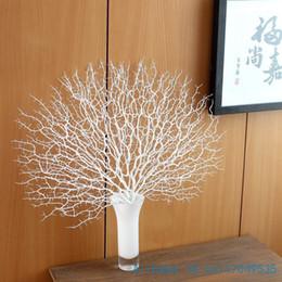 Schöne dekoration vase online-1 STÜCKE Schöne Künstliche Fächerförmige Kunststoff Getrocknete Zweig Pflanze Hause Hochzeitsdekoration Geschenk ohne vase F330