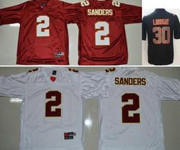Homens faculdade futebol on-line-Seminoles do estado de Florida dos homens de faculdade # 2 Deion Sanders Denver 30 camisas de futebol do futebol americano do bordado da legenda da precipitação da cor de Phillip Lindsay