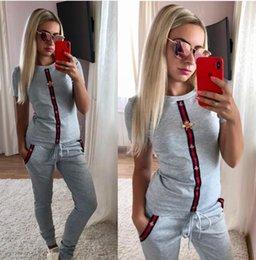B7Abiti gucci Tute Donne Sport stampa della lettera di due pezzi Pantaloni sportivi Outfits lungo SleeveJacket Pocket Pantalone lungo Set TOP17 da immagini animali sexy fornitori