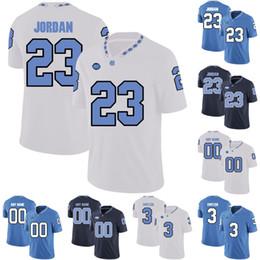 futebol norte Desconto Carolina do Norte Saltos de Alcatrão # Cayson Collins Ryan Switzer Mitch Trubisky Homens Mulheres Juventude Da Universidade de Futebol Costurado Camisas Azul Preto Branco