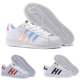 Adidas superstar smith allstar Superstar Original White Hologram Iridescent Junior Gold Superstars Sneakers Originals Super Star Femmes Hommes Sport