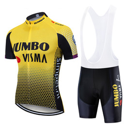 Camisa de lote on-line-Equipe de lotto 2019 jersey ciclismo Set 19D Pad MTB mens verão ropa ciclismo ciclismo desgaste pro BICICLETA Maillot Culotte