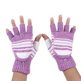 Сенсорные перчатки для женщин онлайн-5V USB Powered Heating Heated Winter Hand Warmer Gloves half fingerless Washable winter gloves women touchscreen wanten