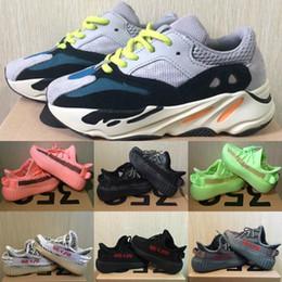 lindas zapatillas negras Rebajas Zapatos de bebé lindos niños cebra Kanye West V2 zapatillas de deporte de la arcilla Reflexivo niño de los zapatos corrientes del niño Deportes Chica instructor zapatilla de deporte verde Negro Gris