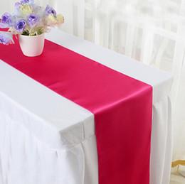 2019 corredores de mesa impermeáveis Decoração da festa de casamento de pano de tabela dos corredores da tabela do cetim para o tamanho 30 * 275cm do banquete do hotel