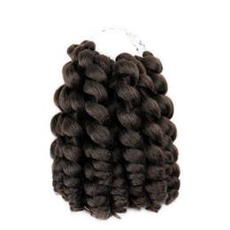 Haarverlängerung synthetisch 1b online-Nicole Haar 8 Zoll 20 Stränge Jumpy Zauberstab Locke Jamaican Bounce Synthetische Flechten Haarverlängerung Häkeln Braid Kanekalon Haar Für Frau