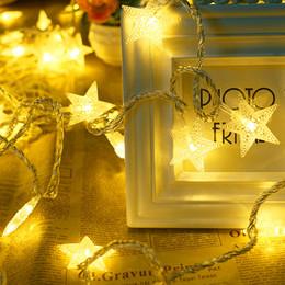 2019 ha condotto le strisce di luci per gli alberi di natale stella a secco a batteria 10m 100leds natale LED luci di striscia albero di natale decorazione casa festa fata stringa sconti ha condotto le strisce di luci per gli alberi di natale
