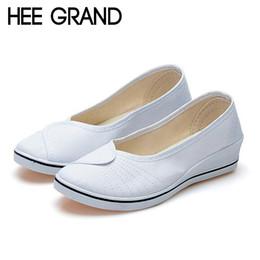 12537cdc8f China HEE GRAND Women Fashion Shoes Breathable Lightweight Shake Sole Flats  Women Causal Canvas Nurse Flats