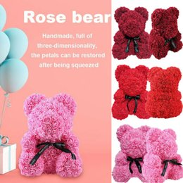 flower girl bear Coupons - Pudcoco 2019 Valentine's Day Rose Bear Toys Women Girl Flower Birthday Valentine Wedding Party Romantic Doll Gifts