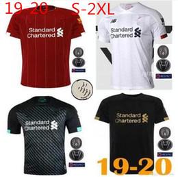 Kits de fútbol personalizados online-Liverpool 19 20 camiseta de fútbol SALAH camiseta de fútbol MANE 2019  Camiseta de futbol negro FIRMINO maillot de foot VIRGIL HENDERSON ORIGIS-2XL