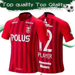 2019 diamantes rojos J1 League Urawa Red Diamonds home red 2019 Camisetas de fútbol 19/20 Camisetas de fútbol de manga corta Personalizadas J1 league Hombres Uniformes de fútbol diamantes rojos baratos
