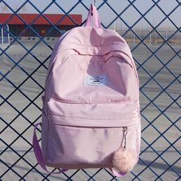 Bonitas mochilas para meninas on-line-Mulheres Moda Mochila Bolsa Bonita estilo mochila School Girls Nylon Travel Bag Feminino Mochila Satchel SAC