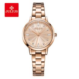 2019 relógio de pulso julius Julius Marca Mulheres Relógio De Quartzo Moda Casual Pulseira De Aço Inoxidável Relógio Vestido Relógios De Pulso Presentes Do Relógio relógio de pulso julius barato