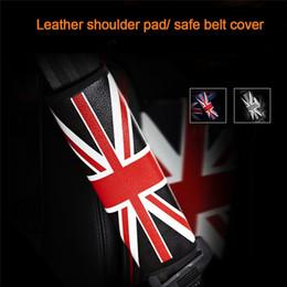 Capas de cinto de segurança para atacado do carro on-line-Car Seat Belt Cinto de segurança Decoração Almofada de Ombro PU Couro Smart Cover Car Auto Cinto de segurança Cinto de segurança Protector Atacado