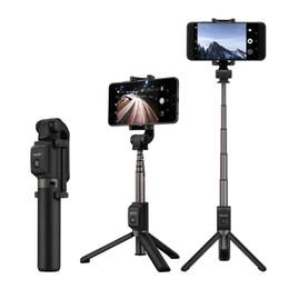 2019 espelhos self stick Sem fio bluetooth selfie vara mini selfie tripé com controle remoto para ios android huawei iphone x 8 smartphones monopé portátil