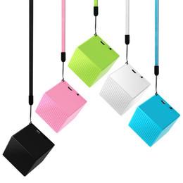 Cubo de jogador on-line-Mini falante bluetooth cubo falante Sem Fio Bluetooth SpeakerWith 3 W 1200 mAh Subwoofer Mini Player Portátil Suporte ao ar livre bluetooth speaker
