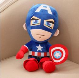 Boneca de pelúcia on-line-brinquedos de pelúcia Avengers The Avengers Homem de Ferro Hulk Thor Spiderman Superman Capitão América boneca de pelúcia 30cm