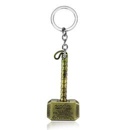 Porte-clé thor en Ligne-porte-clés de voiture Marvel Thor marteau porte-clés en étain jouet