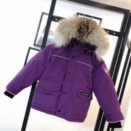 macacão de esqui Desconto Crianças Designer Para Baixo Casaco de Cor Sólida de Luxo Meninos Jaquetas de Inverno Quente Moda Ao Ar Livre Mapa Crachá Bordado Meninas Thick Ski Suit 5 Cores