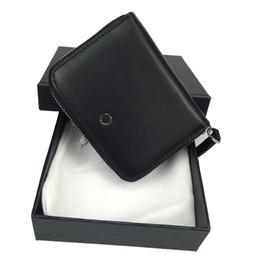 clip de cinturón de cuero billetera Rebajas Lujo 2020 nuevos hombres calientes de cuero negro con cremallera bolsa de cambio clip de moda monedero de bolsillo billetera regalo de alta calidad caja de cinturón de envío gratis