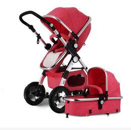 Carrinho de bebê de luxo 3 em 1 alta paisagem carrinho de bebê para crianças com assento de carro do bebê carrinhos para recém-nascidos pushchair carrinho de de Fornecedores de carros de luxo para crianças