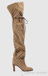 натуральная кожа поверх сапог на коленях Скидка Женские сапоги из ткани выше колена Ботильоны из натуральной кожи балетки Эспадрильи Клинья Слайды Стринги Кроссовки Обувь
