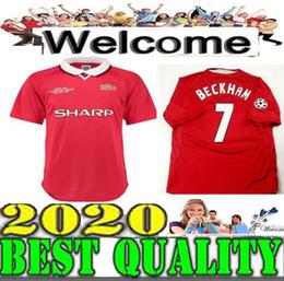 Argentina Retro 1999 camiseta de fútbol del Manchester Home Camiseta roja de manga corta # 20 SOLSKJAER 99 BECKHAM # 7 ROONEY # 10 Camiseta de fútbol Unite Suministro
