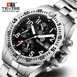 tevise brand watches Coupons - TEVISE Luxury Brand Men Automatic Mechanical Watch Male All Stainless steel Skeleton Luminous Wristwatch Relogio Masculino +BOX