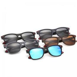 8f3def72e2 Hombres de conducción al aire libre gafas de sol polarizadas de pesca de  golf de conducción gafas de montura cuadrada UV400 lente Vintage espejo  LLA214