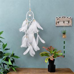 2019 ciotole di porcellana bianco Regalo di compleanno creativo Handmade Dream Catcher Vintage Soggiorno Hanging Decoration Ornament Arts and Crafts Dreamcatcher Home Decor